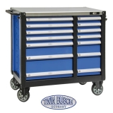 Filled tool trolley with 14 drawers - TW 014G